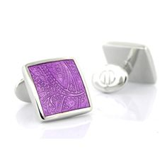 Check out the deal on Sterling Purple Paisley Cuff Links at Cufflinks Depot