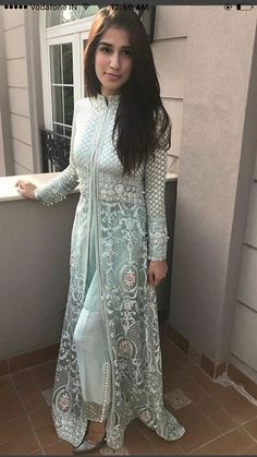 Straight Trouser Designs 2018 In Pakistan Pakistani Dress Design, Pakistani Outfits, Pakistani Gowns, Indian Wedding Outfits, Indian Outfits, Party Wear Indian Dresses, Wedding Outfits For Women, Dress Party, Wedding Dress