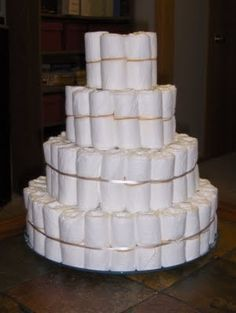 detailed instructions for building a diaper cake
