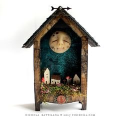 Art and craft inspired by starry nights and fairy tales. Altered Boxes, Altered Art, Toy Theatre, Shadow Box Art, Arts And Crafts, Paper Crafts, Found Art, Paperclay, Assemblage Art