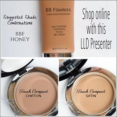 Check out Younique's BB Cream $39.00, Cream Foundation $32.00 and Powder Foundation $32.00      www.lashoutbyrita.com