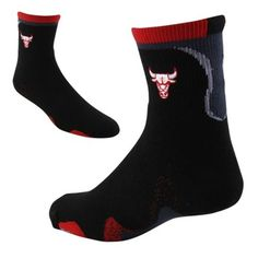 wholesale dealer b260f 1aa80 Chicago Bulls Zag Crew Socks - Black Red  11.95 Chicago Bulls Basketball,  Basketball Playoffs
