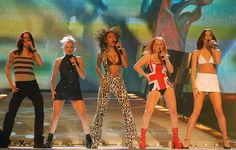 Geri Halliwell Performing with the Spice Girls, 1997 - Getty Images/Getty Images