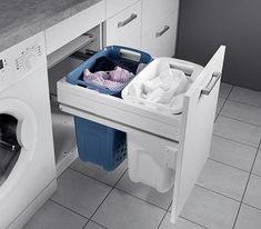 Beautiful and functional small laundry room design ideas 19 - GODIYGO. Laundry Bin, Laundry Room Organization, Laundry Baskets, Laundry Hamper Cabinet, Laundry Shop, Laundry Sorter, Diy Organization, Closet Storage, Bathroom Storage