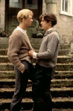 MAURICE, James Wilby, Hugh Grant, 1987   Essential Film Stars, Hugh Grant http://gay-themed-films.com/film-stars-hugh-grant/