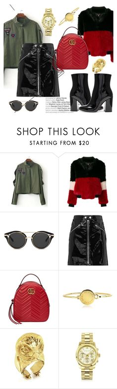 """Let's go for a Drink"" by elenzark ❤ liked on Polyvore featuring La Seine & Moi, rag & bone/JEAN, Gucci, Marc by Marc Jacobs, Bernard Delettrez, Michael Kors and Gianvito Rossi"
