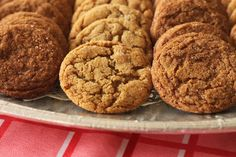 Soft & Chewy Mini Molasses Ginger Cookies