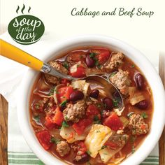 Cabbage and Beef Soup Recipe from Taste of Home -- shared by Ethel Ledbetter, Canton, North Carolina