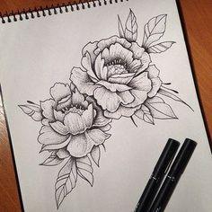Risultati immagini per peonies inner arm tattoo #TattooDesignsArm