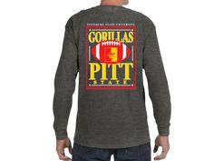 Pitt State Gorillas Football Gildan Heavy Cotton Long Sleeve Shirt - Graphite Heather