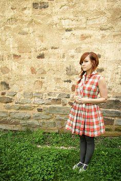 Plaid Dress by Skunkboy Creatures., via Flickr