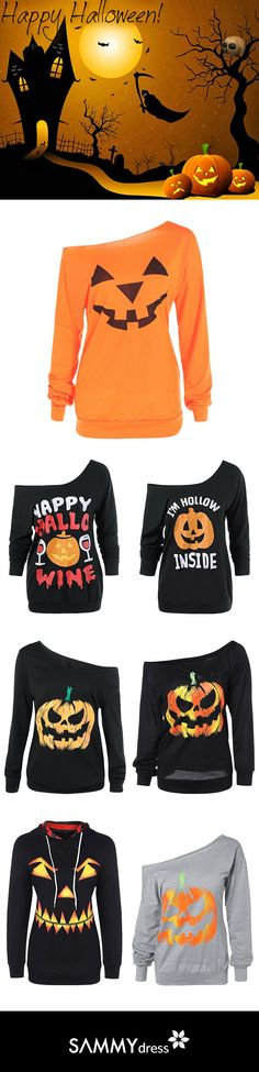 Trick or treating! Warm up your holiday season with Sammydress's Halloween tops. Pumpkin patterns matched with Halloween colors - Black and Orange! Get the stylish and cool tops without spending too much money! Only $10 or less, you can suit up for your Halloween party. What's more? You can still wear it after the holiday season! So no wastes of money for only one night! Check out more inexpensive and cool Halloween clothes on www.sammydress.com