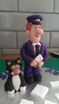Postman pat cake topper Postman Pat Cake, British Cake, Bithday Cake, Cake Models, Novelty Cakes, Postmann Pat, Creative Cakes, 3rd Birthday, Amazing Cakes