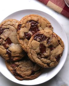 焼きたてをどうぞ! 最高のチョコチップクッキー chewy chocolate chip cookie
