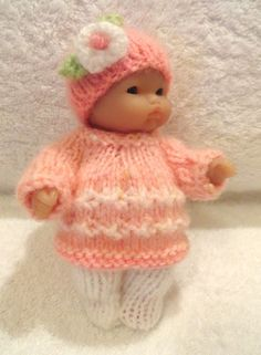 Hand Knitted Clothes for 5  Berenguer Doll (#76)