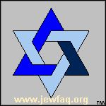 The star of David originated around the 11th century as the seal of Salomon, which later became the symbol of Judaism. Much like the Holy Cross in Christianity.