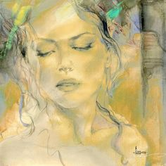 "Portrait fine art at Art Leaders Gallery: ""Sense of a Woman I"" by Russian artist Anna Razumovskaya. Discover more affordable fine art, sculptures, hand blown glass, art gifts, and custom framing. artleaders.com 
