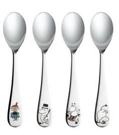 Muumi lusikoita ei koskaan ole liikaa ;) Fancy Kitchens, Moomin, Katana, Measuring Spoons, Tea Party, Tableware, Amazing Things, Troll, Songs