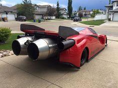 Crazy Canadian Builds Ferrari Enzo Inspired Jet Car