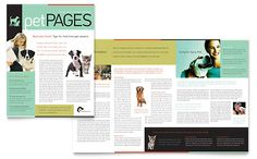 Veterinary Clinic Newsletter Template by @StockLayouts. Download, edit, print!