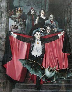 Rowena Morrill · Art for The Dracula Book of Great Vampire Stories edited by Leslie Shepard · 1978 Jove / HBJ Books Arte Horror, Gothic Horror, Horror Art, Halloween Vampire, Halloween Art, Vintage Halloween, Frankenstein, Desenhos Halloween, Vintage Book Covers
