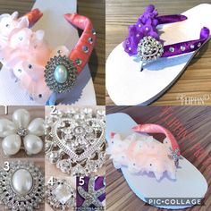 Excited to share the latest addition to my #etsy shop: Bridal flip flops wedding sandals colour beach bride shoes flat satin chiffon flower diamante slipper dancing shoes beach just married gift