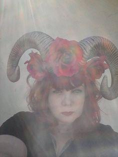 HornHorn Headband Burning man Festival Flower by msformaldehyde