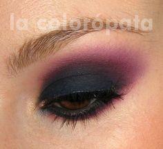 navy blue - burgundy smoky http://www.makeupbee.com/look.php?look_id=65683