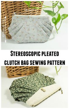 Stereoscopic pleated clutch bag sewing pattern.