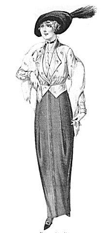 1913 Fashion Illustration The Delineator Ladies Fur Wrap