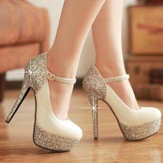 $49.99 Dresswe.com SUPPLIES New Sexy Elegant Super High Heel Platform Prom Shoes with Sequins