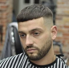 Image may contain: 1 person, beard and outdoor Crop Haircut, Easy Hair Cuts, Short Hair Cuts, Short Hair Styles, Mens Hairstyles With Beard, Haircuts For Men, Mens Cropped Hair, Gents Hair Style, Short Hairstyles