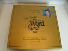 Tony Randall's Word Quest 1980s Board Game Vocabulary