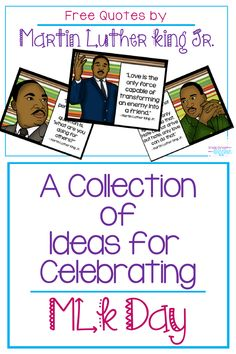An Organized Collection of Teaching Activities for MLK Day - Grade School Giggles - Martin Luther King Jr. Day is celebrated each year on the Monday in January. Teaching 5th Grade, Kindergarten Activities, Classroom Activities, Reggio Classroom, Classroom Walls, Teaching Activities, Teaching Kids, Learning Resources, Mlk Jr Day