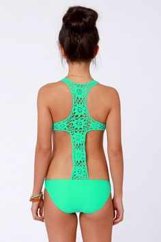 Beach Riot The Day Dreamer - Sea Green Swimsuit - One Piece Swimsuit - $151.00