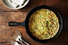 Baked Onion-Walnut Frittata + Crispy Delicata Rings on Food52.