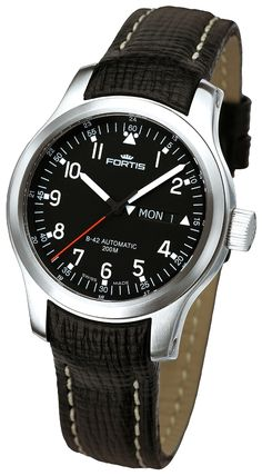 Fortis B-42 Pilot Professional Day Date watch. Reference 645.10.11