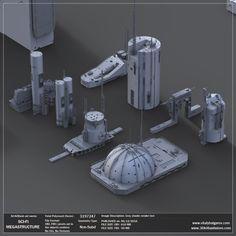 Find your Grapfix Desire With US 3d Building, Building Design, Sci Fi City, Air Conditioning Units, Star Wars Concept Art, Futuristic City, Cg Art, Matte Painting, City Buildings