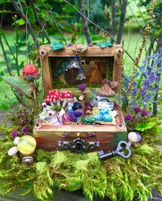 Dollhouse miniature fairy floor chest by 19thDayMiniatures on Etsy
