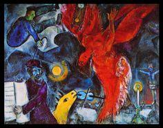 """Marc Chagall  """"La caída de un ángel"""""""