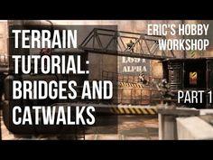 Terrain Tutorial: Bridges and Catwalks for Warhammer Necromunda and Kill Team (Part 40k Terrain, Wargaming Terrain, Warhammer Paint, Warhammer 40k, Catwalks, Bridges, Youtube, Diorama, Sculpting