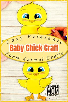 Watch the excitement on your toddlers face when you share these amazing farm animal crafts. This simple cut and paste baby chick craft comes complete with free printable template and easy to follow step by step instructions. Your kids will create new farm animal crafts in no time at all with this free printable baby chick craft, so come visit our site for your templates, then share your pics on this pin - I'd love to see your finished baby chick crafts today! Farm Animal Crafts, Farm Animals, Fun Crafts To Do, Crafts For Kids, Printable Crafts, Free Printables, Bunny Templates, Coloured Feathers, New Farm