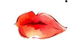 Watercolour Lips http://www.kathywyatt.com/illustration/fashion/images/LIPS.jpg