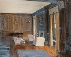 james g. fullarton, the long room, furneaux pelham, 1937. oil on canvas, 35.8 x 40.8 cm. mclean museum and art gallery – inverclyde council, uk http://www.bbc.co.uk/arts/yourpaintings/paintings/the-long-room-furneaux-pelham-183263