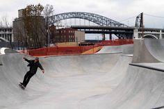 Downtown Cleveland, Urban Setting, Skate Park, Golden Gate Bridge, Brick, Indoor, City, Travel, Image