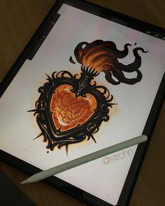Tattoo Sketches, Tattoo Drawings, Body Art Tattoos, Print Tattoos, Sleeve Tattoos, Gem Tattoo, Arm Band Tattoo, Neo Traditional Art, Desenhos Old School