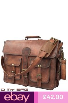 74eb57ccca70 Brown Leather Two Pocket Office College Laptop Messenger Bag – DailyShop  Vintage  Leather Bags Store