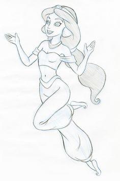 PRINCESS JASMINE SKETCHES | Jasmine Sketch | Flickr - Photo Sharing!