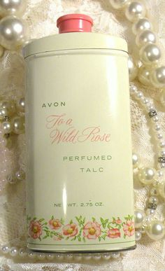 Vintage AVON To a Wild Rose Perfumed Talc by RosePetalResources