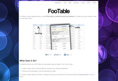 FooTables - Responsive table solution